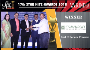Compusoft Receives The Award For The Best IT Service Provider At VAR Symposium – 17th Star Nite Awards 2018