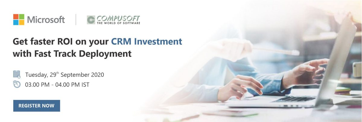 Get faster ROI on Your CRM Investment with Fast Track Deployment